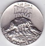 Israel medalie  argint 30 gr puritate 935/1000 cetatea MASADA vezi descriere