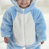 CLD71-4 Salopeta elefant albastru pentru copii - Costum copii