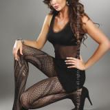 Livia Corsetti 217-1 Ciorapi sexy cu model din plasa