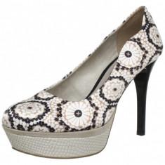 GDY109 Pantofi cu toc si model vintage - Pantof dama Tamaris, Marime: 37