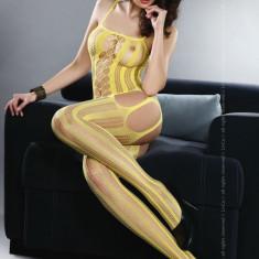 Livia Corsetti 64-9 enjerie bodystocking cu dungi pe picior si decupaje - Lenjerie sexy dama LIVIA CORSETTI, Marime: Marime universala