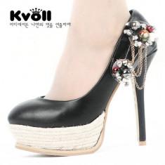 CH1545 Incaltaminte - Pantofi Dama - Pantof dama, Marime: 38, Cu toc
