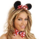 TOY23 Accesorii Mickey Mouse - urechi si papion cu buline