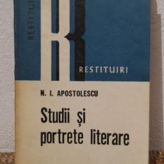 STUDII SI PORTRETE LITERARE -N.I.APOSTOLESCU - Studiu literar