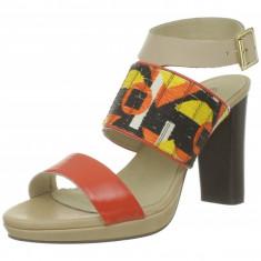 GDY67 Sandale de vara cu barete late din piele - Sandale dama, Marime: 37