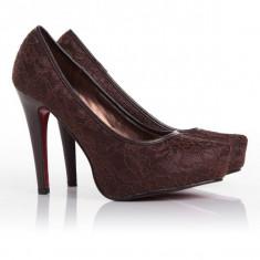 SH1 Incaltaminte - Pantofi Dama - Pantof dama, Marime: 39, Cu toc