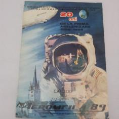 CATALOG AEROMFILA 1989/SIBIU/ 20 DE ANI DE LA PRIMA ASELENIZARE