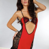 Livia Corsetti 167-3 Lenjerie sexy cu dantela si brosa
