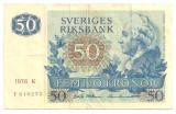 SUEDIA 50 KRONOR COROANE 1976 VF