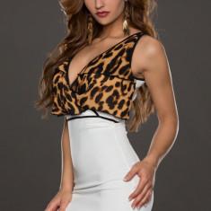 W274-2 Rochie sexy cu model animal print - Rochie de club, Marime: M