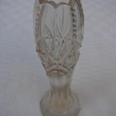 Frumoasa vaza din cristal lucrata manual, perioada anilor 1920 - Vaza sticla