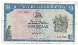 RHODESIA 1 DOLLAR 1970 F