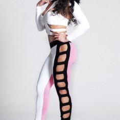 B274 Compleu top si pantaloni mulati - Top dama, Marime: M