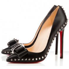CH2231 Pantofi eleganti cu toc inalt, accesorizati cu tinte - Pantof dama, Marime: 37, 38, 39