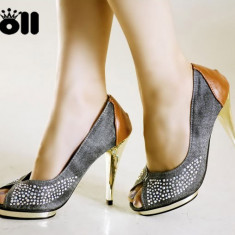 CH19 Incaltaminte - Pantofi Dama - Pantof dama, Marime: 36, Cu toc