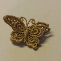Brosa Macrameu Fluture vintage Spectaculoasa si de Efect piesa de colectie Rara