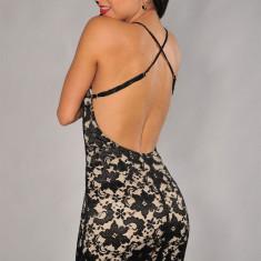 X256 Rochie sexy cu dantela si spatele gol - Rochie de seara, Marime: M, Negru, Scurta