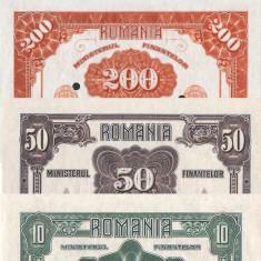 10, 50, 200, 2000 Lei 1920 Emisiuni Ferdinand Reproduceri