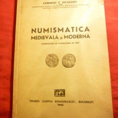 C.C.Secasanu - Numismatica Medievala si Moderna 1942, dedicatie si autograf