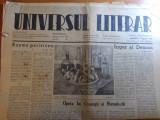 "Ziarul universul literar 6 apr. 1940-articolul ""opera lui creanga si humulestii"""