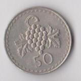 Moneda 50 mils 1980 - Cipru, Europa