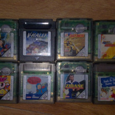8 jocuri Gameboy color GB ( Tin Tin, Aterix Obelix, PopwePuff Girls