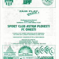 Program meci fotbal ASTRA Ploiesti - FC ONESTI 14.11.1998