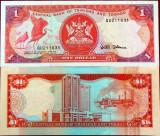 Bancnota 1 Dolar - TRINIDAD TOBAGO, UNC NEDATATA- GUVERNATOR RAR * Cod 767 B
