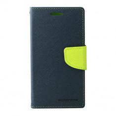 Toc My-Fancy Samsung Galaxy J5 J500 Albastru/Lime - Husa Telefon Atlas, Textil