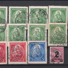 UNGARIA 1923, LOT OLD STAMPS USED, LOT 1 ST, Stampilat