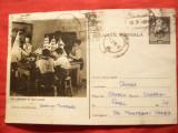 Carte Postala cu Pionieri - Cercul Navomodele ,circulat 1956, Circulata, Printata