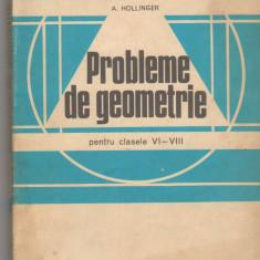 (C6469) A. HOLLINGER - PROBLEME DE GEOMETRIE, CLASELE VI-VIII - Carte Matematica