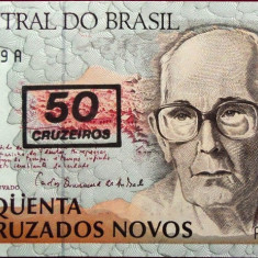 Bancnota 50 Cruzeiros - BRAZILIA, 1990 UNC - bancnota america