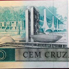 Bancnota 100 Cruzados - BRAZILIA, 1987 UNC - bancnota america