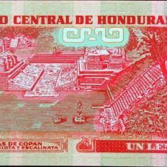 Bancnota 1 Lempira - HONDURAS, 2010 UNC - bancnota america