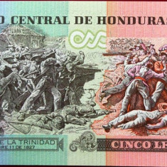 Bancnota 5 Lempiras - HONDURAS, 2010 UNC - bancnota america