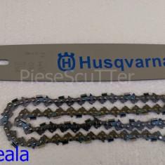 Lama + Lant compatibila Drujba Husqvarna ( Husvarna ) 38cm / 32 dinti / pas 3/25