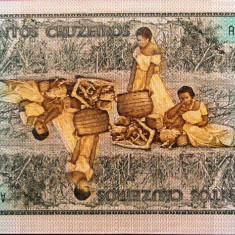 Bancnota 200 Cruzeiros- BRAZILIA, 1984 UNC - bancnota america