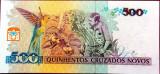 Bancnota 500 Cruzeiros - BRAZILIA, 1990 UNC