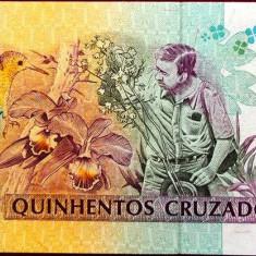 Bancnota 500 Cruzeiros - BRAZILIA, 1990 UNC - bancnota america