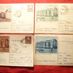 Set 4 Carti Postale - Orasul Stalin -Brasov -Cartiere Muncitoresti 1955-1956 - Carte Postala Transilvania dupa 1918, Circulata, Printata