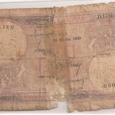 ROMANIA 2 JUMATATI DE 5 LEI 1920 U - Bancnota romaneasca
