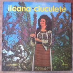 Ileana ciuculete disc vinyl lp muzica populara folclor romanesc electrecord, VINIL