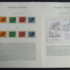 ALBUM PREZENTARE GERMANIA - PROTECTIA NATURII 60 PAGINI(FDC-URI, SERII) - D 107