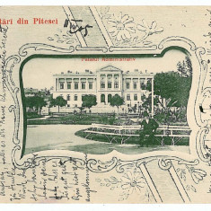 3153 - Arges, PITESTI, Primaria - old postcard - used - 1905 - Carte Postala Muntenia 1904-1918, Circulata, Printata