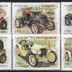 5016 - Benin - automobile 6v.neuzat - Timbre straine, Nestampilat