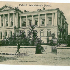 512 - Arges, PITESTI, Palatul Administrativ - old postcard - used - 1906 - Carte Postala Muntenia 1904-1918, Circulata, Printata