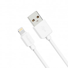Cablu 8 Pin Lightning USB iPhone 5 5C 5S 6 6S 6/6S Plus iPad YB-410 White Yoobao - Cablu de date Yoobao, iPhone 6