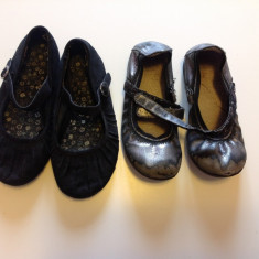 Balerini gri, papucei pentru fetite, pantofiori interior, marimea 27-28 - Balerini copii, Fete, Piele sintetica