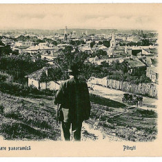 3152 - Arges, PITESTI, Panorama - old postcard - used - Carte Postala Muntenia 1904-1918, Circulata, Printata